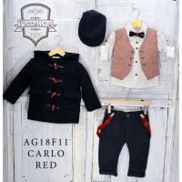 Piccolino Κουστούμι Βάπτισης AG18F11 CARLO RED A