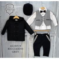 Piccolino Κουστούμι Βάπτισης AG18F19 RICCIARDO GREY