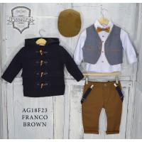Κουστούμι Βάπτισης Piccolino AG18F23 FRANCO BROWN