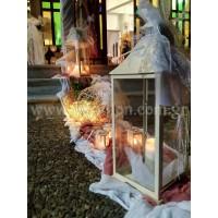 Στολισμός Τραπεζιών, Welcome και εκκλησίας με Λουλούδια σε σάπιο μήλο