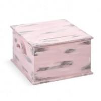 Ευχολόγιο Βάπτισης Κουτί με θέμα Vintage, Ροζ