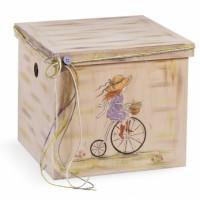 Κουτί βάπτισης Κύβος με Sarah Kay