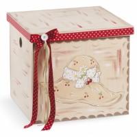 Κουτί βάπτισης Κύβος με Sarah Kay κωδ.6330