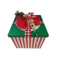 Κουτί Βάπτισης Κύβος με Χριστούγεννα