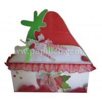 Παγκάκι με πλάτη φράουλα
