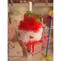 Λαμπάδα κερί φράουλα κωδ.688
