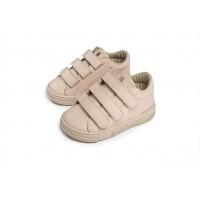 Babywalker Παπούτσια Βάπτισης δερμάτινα sneakers με τριπλό χρατς