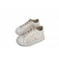 Babywalker Παπούτσια Βάπτισης sneakers από δέρμα & ύφασμα 5728