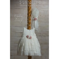 Piccolino Φόρεμα Βάπτισης DR19S25 ALICE IVORY