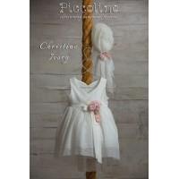Piccolino Φόρεμα Βάπτισης DR19S29 CRISTINE IVORY