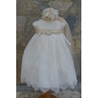 Φόρεμα Βάπτισης Bebe en Rose 64785
