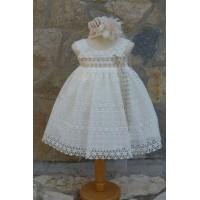 Φόρεμα Βάπτισης Bebe en Rose 65578