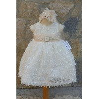 Φόρεμα Βάπτισης Bebe en Rose 65768
