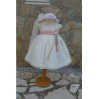 Φόρεμα Βάπτισης Bebe en Rose 68150