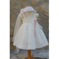 Φόρεμα Βάπτισης Bebe en Rose 69250