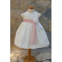 Φόρεμα Βάπτισης Bebe en Rose 69450