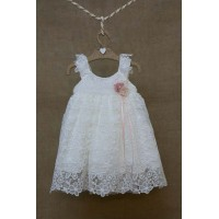 Φόρεμα Βάπτισης Bebe en Rose 83578