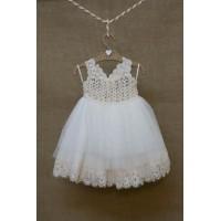 Φόρεμα Βάπτισης Bebe en Rose 83770