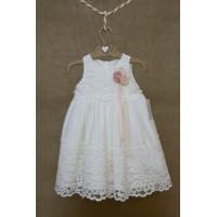 Φόρεμα Βάπτισης Bebe en Rose 84355