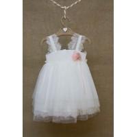 Φόρεμα Βάπτισης Bebe en Rose 84450