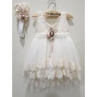 La Christine Φόρεμα Βάπτισης 19K155